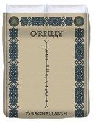 O'reilly Written In Ogham Duvet Cover