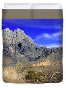 Organ Mountain Frosty Top Duvet Cover