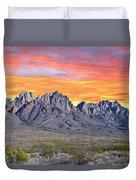 Organ Mountain Sunrise Most Viewed  Duvet Cover