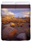 Organ Mountains Sunset Duvet Cover