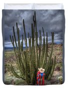Organ Pipe Cactus The Visitor 1 Duvet Cover