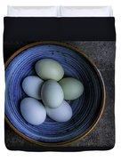 Organic Blue Eggs Duvet Cover