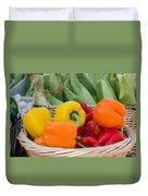 Organic Sweet Bell Peppers Duvet Cover
