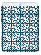 Orient Blue And White Interlude Duvet Cover