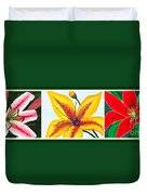 Oriental Daylily Trio Duvet Cover