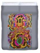 Oriental Leaf Duvet Cover