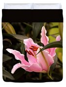 Oriental Lily Beauty Duvet Cover