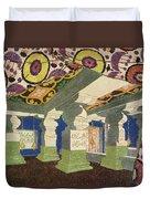 Oriental Scenery Design Duvet Cover