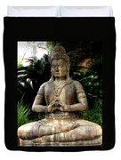 Oriental Statue Duvet Cover