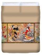 Oriental Triptych Duvet Cover
