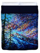 Original Abstract Impressionist Landscape Contemporary Art By Madart Mountain Glory Duvet Cover