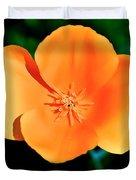 Original Digital Painting Of The California Poppy Duvet Cover