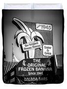 Original Frozen Banana Sign On Balboa Island Picture Duvet Cover