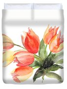 Original Tulips Flowers Duvet Cover