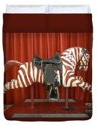 Original Zebra Carousel Ride Duvet Cover