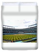 Oriole Park At Camden Yards Duvet Cover