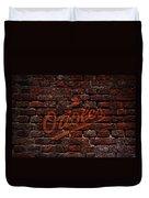 Orioles Baseball Graffiti On Brick  Duvet Cover