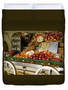 Work Hard And Be - Country Onion Cart Duvet Cover