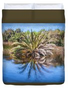 Ormond Scenic Loop Florida Palm Tree Painted  Duvet Cover