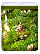 Ornament In A Christmas Tree Duvet Cover