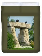 Ornamental Crows Duvet Cover