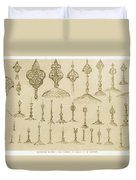 Ornamental Knobs Shaped As Domes Duvet Cover