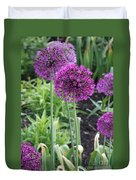 Ornamental Leek Flower Duvet Cover