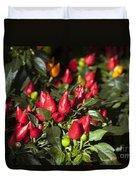 Ornamental Peppers Duvet Cover