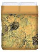 Ornamental Thistle Flower Duvet Cover