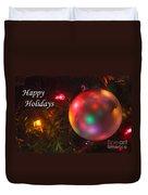 Ornaments-1942-happyholidays Duvet Cover