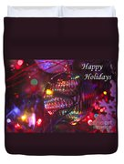 Ornaments-2038-happyholidays Duvet Cover