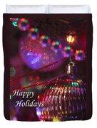 Ornaments-2054-happyholidays Duvet Cover