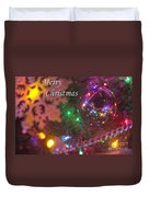 Ornaments-2090-merrychristmas Duvet Cover