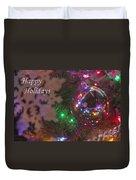 Ornaments-2096-happyholidays Duvet Cover