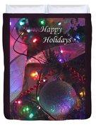 Ornaments-2136-happyholidays Duvet Cover