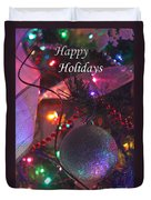 Ornaments-2143-happyholidays Duvet Cover