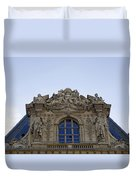Ornate Architectural Artwork On The Musee Du Louvre Buildings In Paris France  Duvet Cover
