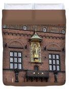 Ornate Building Artwork In Copenhagen Duvet Cover