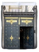 Ornate Door On Champs Elysees In Paris France Duvet Cover