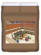Ornate Fountains With Holy Water From The Bagmati River In Patan Durbar Square In Lalitpur-nepal   Duvet Cover