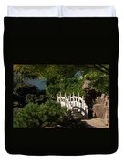 Ornate White Stone Bridge  Duvet Cover