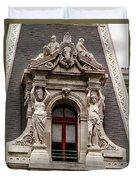 Ornate Window Of City Hall Philadelphia Duvet Cover