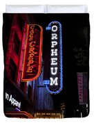 Orpheum And Cafe Crepe Duvet Cover