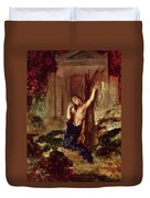 Orpheus At The Tomb Of Eurydice Duvet Cover