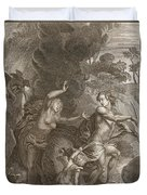 Orpheus, Leading Eurydice Out Of Hell Duvet Cover