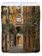 Orvieto Side Street Duvet Cover by Lynn Andrews