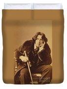 Oscar Wilde 1882 Duvet Cover