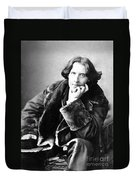Oscar Wilde In His Favourite Coat 1882 Duvet Cover