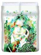 Oscar Wilde Watercolor Portrait.2 Duvet Cover