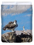 Osprey And Catch Duvet Cover
